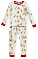 BedHead Jersey Reindeer Pajama Set, Aqua/Fuchsia, Size 10-12