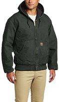 Carhartt Men's Big & Tall Quilted Flannel Lined Sandstone Active Jacket J130,Black,XX-Large Tall