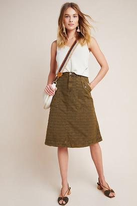 Anthropologie Aubrey Textured Utility Skirt By in Green Size 0