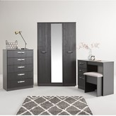 Canterbury of New Zealand Swift 4 Piece Ready Assembled Package 2 Door Wardrobe, 5 Drawer Chest and 2 Bedside Chests