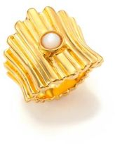 Lizzie Fortunato Ridged Mother-Of-Pearl Ring