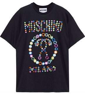 Moschino Embellished Cotton-Jersey T-Shirt