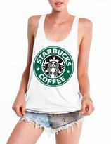 Ninimour Womens Printed Sleeveless Loose Rracerback Vest Tank Top T-Shirt Blouse