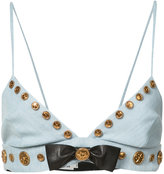 Fausto Puglisi embellished bow bra - women - Silk/Cotton/Polyester/Acetate - 40