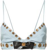 Fausto Puglisi embellished bow bra