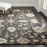 Crate & Barrel Juno Grey Wool Rug