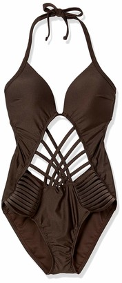 Kenneth Cole New York Women's Stappy Push Up Mio One Piece Swimsuit