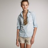 Washed chambray perfect shirt