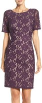 Adrianna Papell Women's Floral Lace Sheath Dress