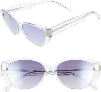 Colors In Optics Southbeach 54mm Gradient Cat Eye Sunglasses