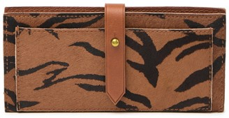 Madewell Genuine Calf Hair & Leather Post Wallet
