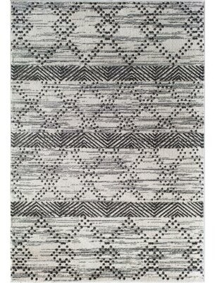 Little Seeds Serenity Geometric White Area Rug Rug Size: Rectangle 5' x 7'