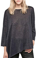 Gerard Darel Luna Oversized Metallic Jumper, Blue