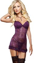 Generic Women Lace Lingerie Badydoll with G-string Nightdress