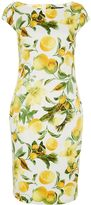 Hallhuber Lemon print shift dress