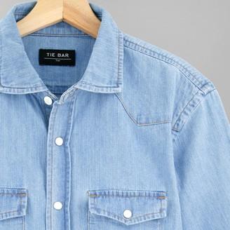 Tie Bar Western Denim Light Blue Casual Shirt