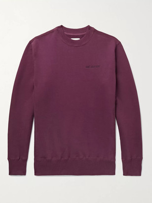 Aimé Leon Dore Logo-Embroidered Melange Loopback Cotton-Jersey Sweatshirt