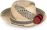 Yosuzi Cream & Black Siruma Straw Hat