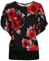 Quiz Chiffon Rose Print Top