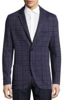 Brioni Regular-Fit Windowpane Check Cotton-Blend Sportcoat