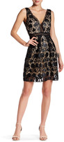 Romeo & Juliet Couture Sleeveless Faux Leather Floral Crochet Lace Dress
