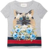 Gucci Little Girl's & Girl's Cat & Flower T-shirt