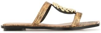 Vicenza Metallic-Effect Sandals
