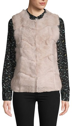 DOLCE CABO Chevron Rabbit Fur Vest