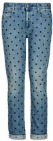 Stella McCartney blue skinny boyfriend blue star jeans