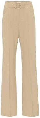 Nanushka Clara belted high-rise flared pants