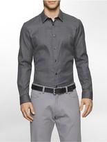 Calvin Klein Slim Fit Jacquard Plaid Shirt
