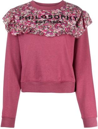 Philosophy di Lorenzo Serafini Floral-Print Cotton Sweatshirt