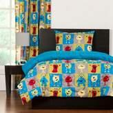 Crayola Monster Friends Reversible Comforter Set in Blue