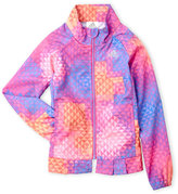 adidas Girls 4-6x) Geometric Print Raglan Windbreaker Jacket