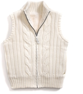 Tommy Hilfiger Reversible Fur Sweater Vest