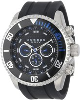 Akribos XXIV Men's AK597BU Grandiose Swiss Quartz Multi-Function Silicone Strap Watch