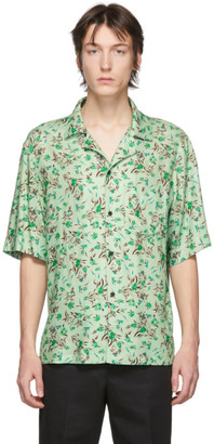 Acne Studios Green Flower Print Shirt