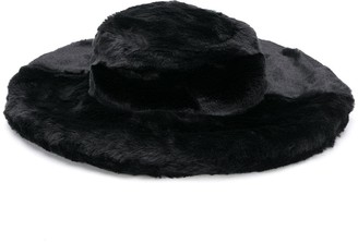 Kirin Faux Fur Wide Brim Hat