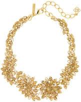 Oscar de la Renta Millegrain Swarovski Crystal Embellished Petal Necklace