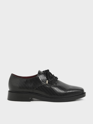 Charles & Keith Patent Derby Shoes