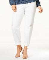 MICHAEL Michael Kors Size Dillon Ripped White Wash Boyfriend Jeans