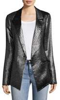 RtA Iggy Striped Metallic Blazer