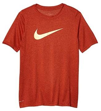 Nike Kids Dry Legend Swoosh Tee 3 (Little Kids/Big Kids) (Team Red/University Red/Black/Black) Boy's T Shirt