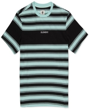 Element Men's Embroidered Striped Logo T-shirt