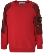 Stone Island Children Boys Shoulder Detail Sweatshirt