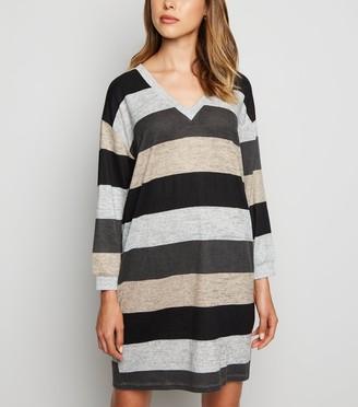 New Look JDY Light Stripe Long Sleeve Dress