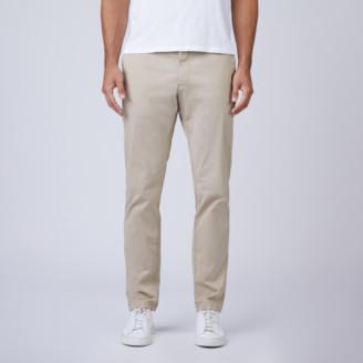 DSTLD Skinny Slim Stretch Chino Pants in Khaki