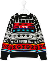 Kenzo logo pattern knit jumper
