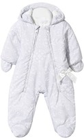 Christian Lacroix Grey Fleece-Lined Printed Snowsuit with Mittens
