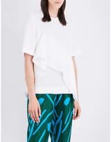 Diane von Furstenberg Ruffle-front silk-crepe blouse